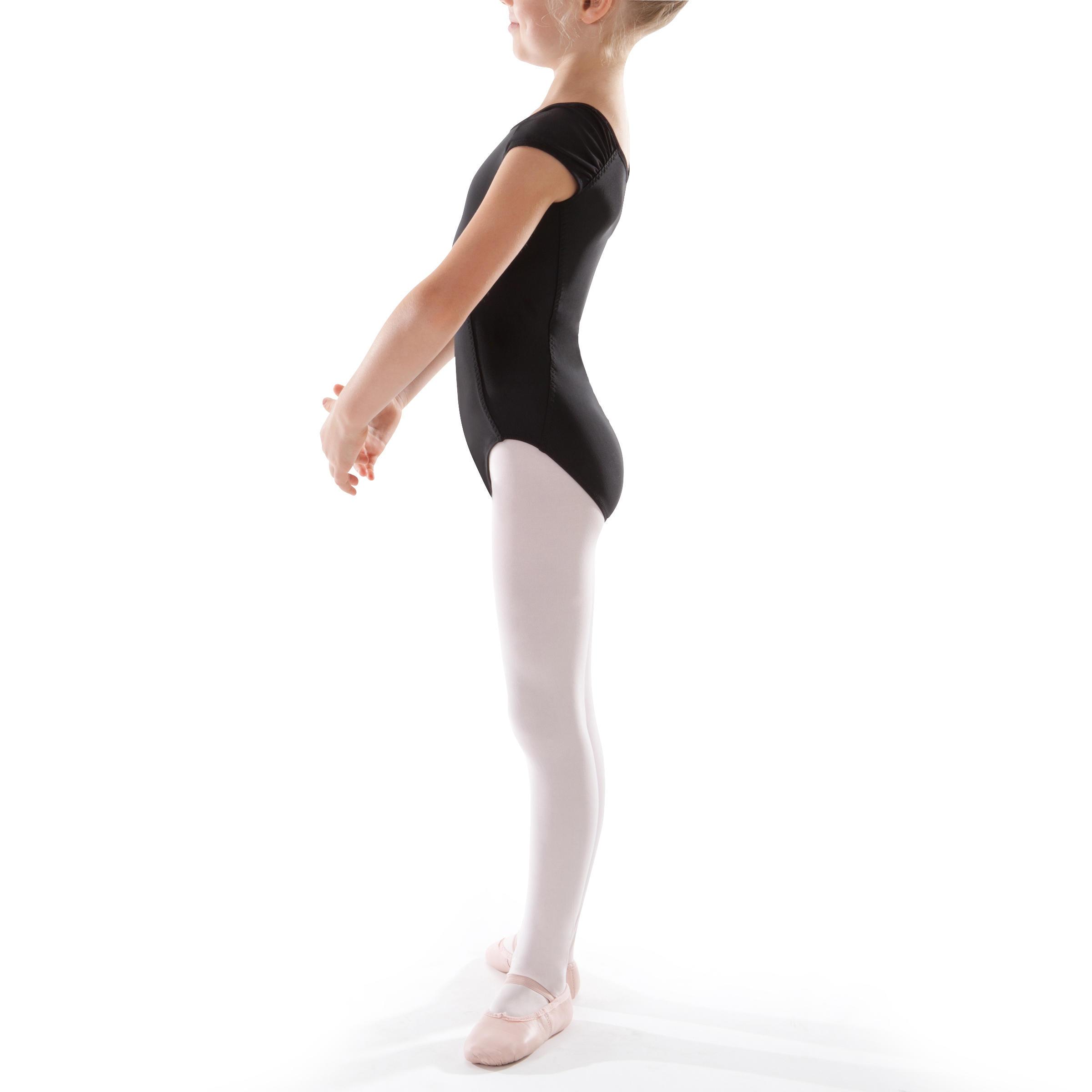 Léotard manches courtes de danse classique fille noir