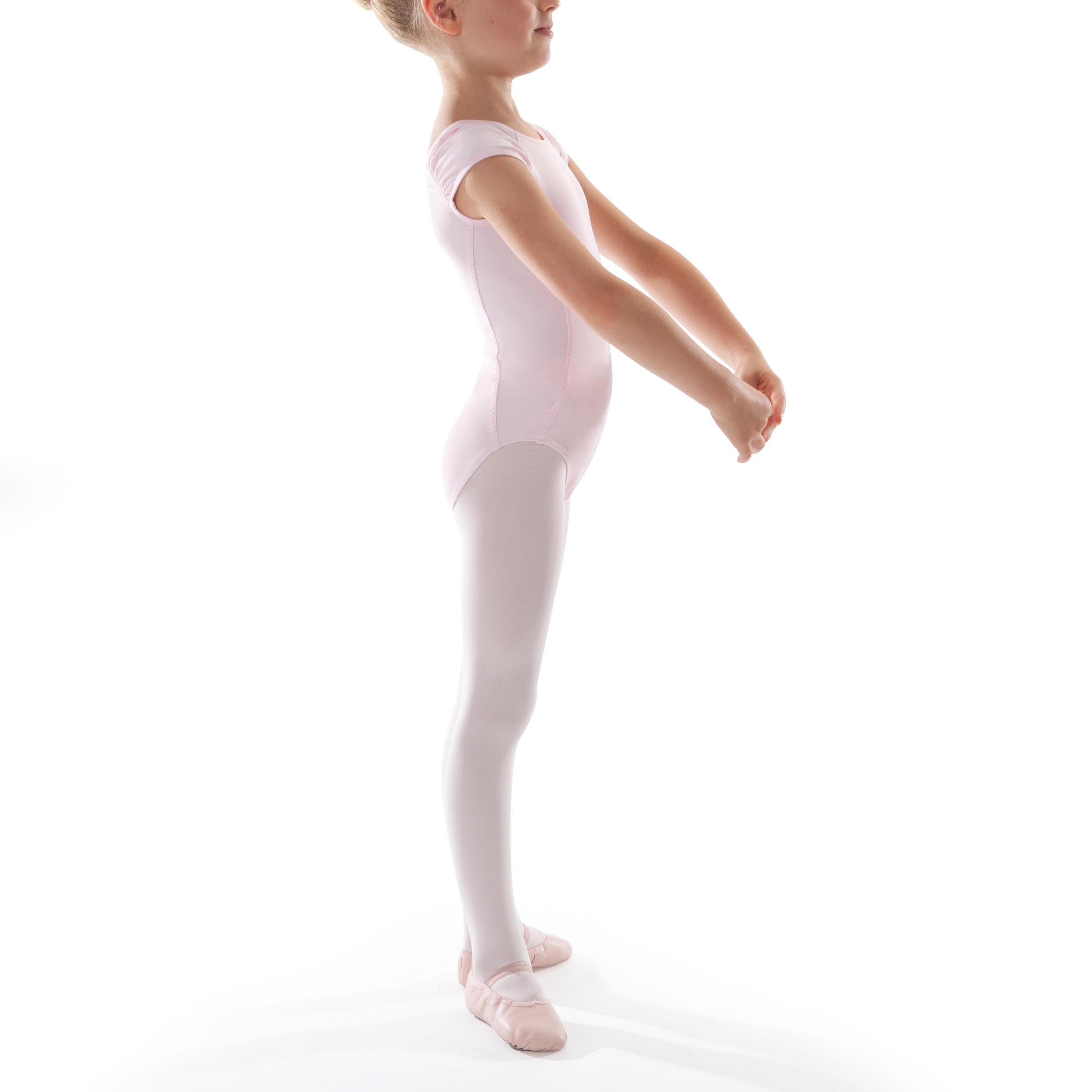 Léotard manches courtes de danse classique fille rose