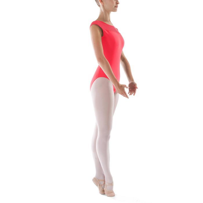 Justaucorps de danse classique manches courtes bi-matière femme - 1295524