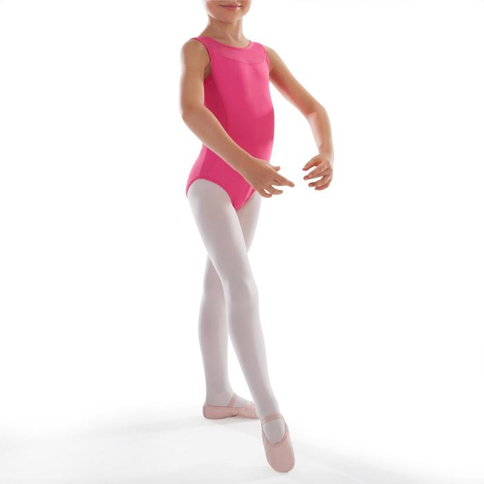 Justaucorps de danse classique bi-matière voile - 1295527