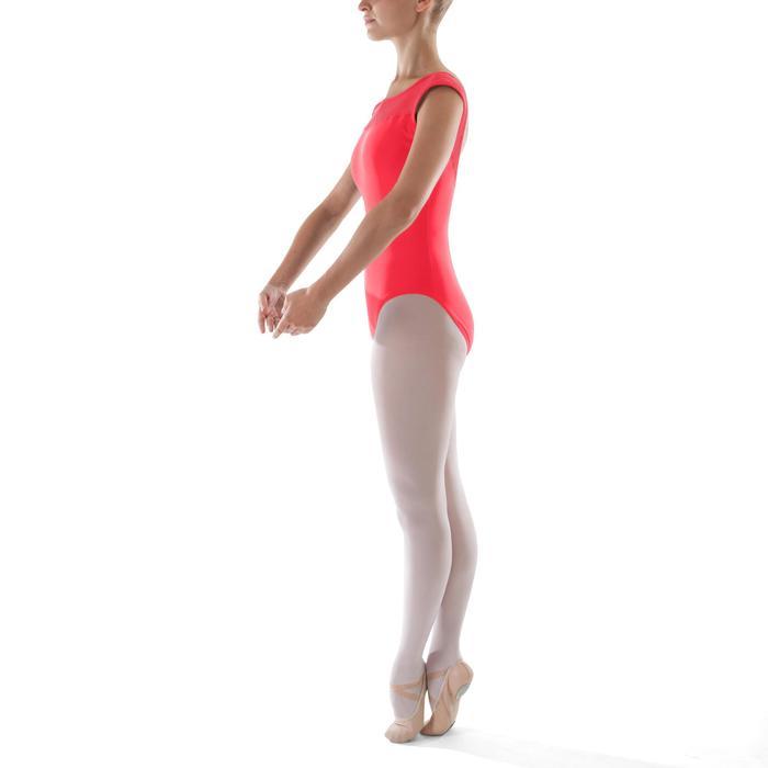 Justaucorps de danse classique manches courtes bi-matière femme corail