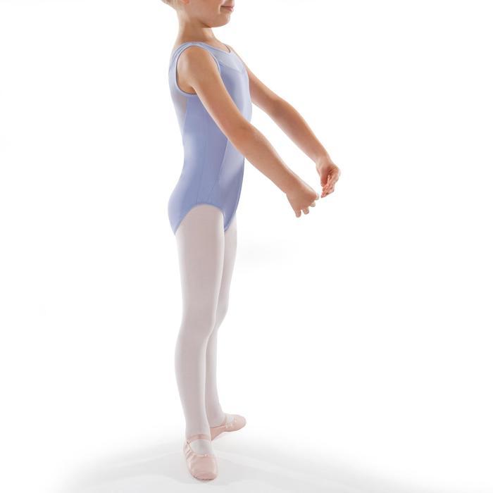 Justaucorps de danse classique bi-matière fille parme.