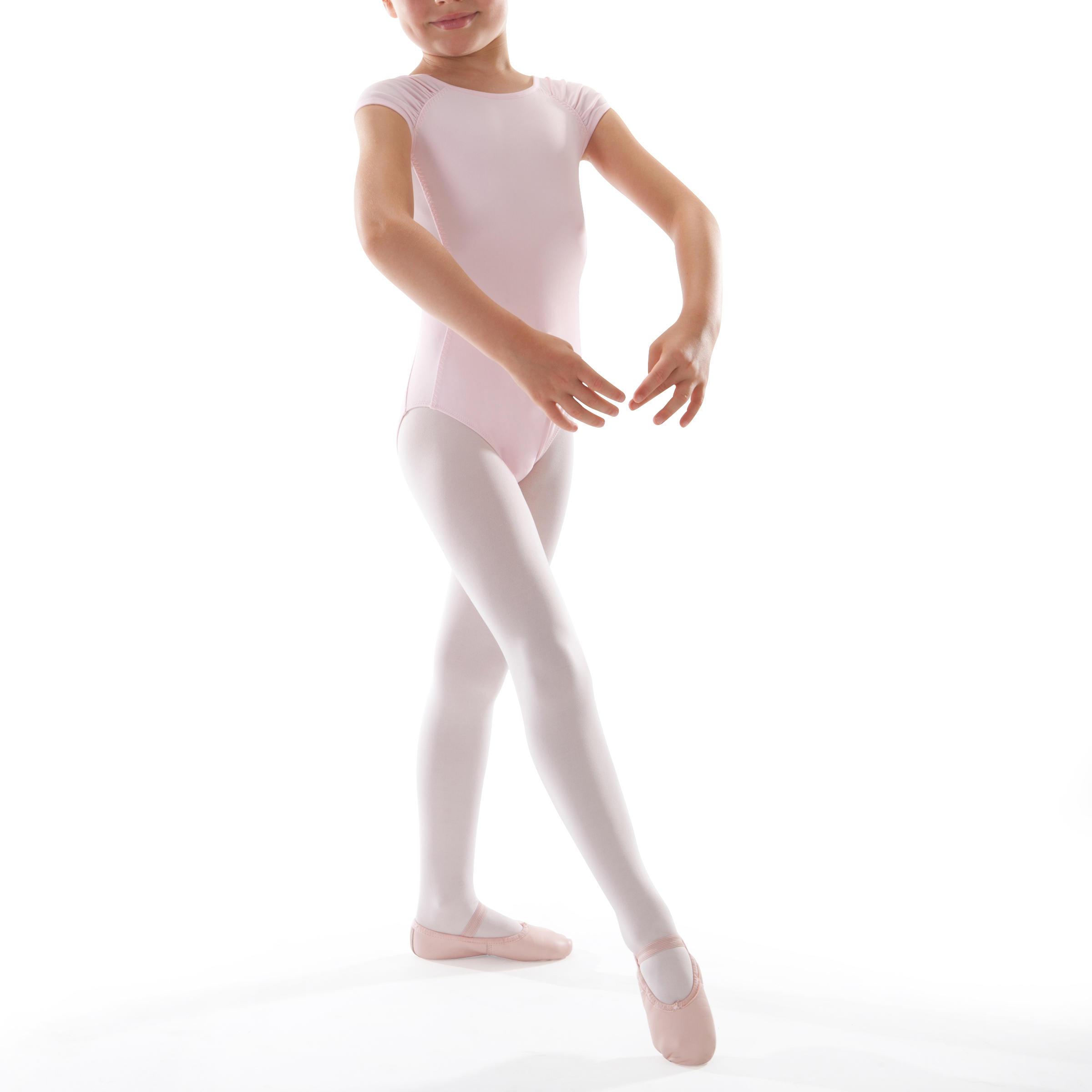 Girls' Short-Sleeved Ballet Leotard - Pink