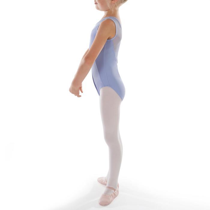 Maillot de danza clásica en dos tejidos niña malva claro