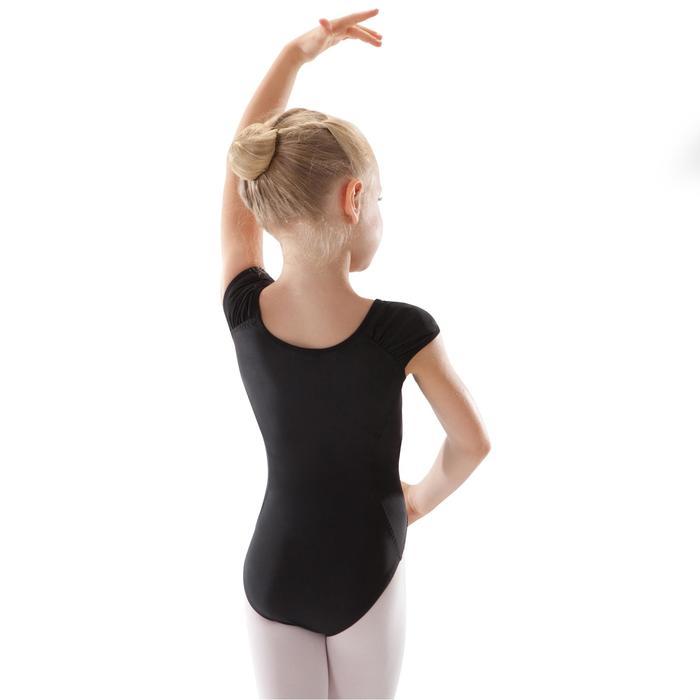 Justaucorps manches courtes de danse classique fille noir
