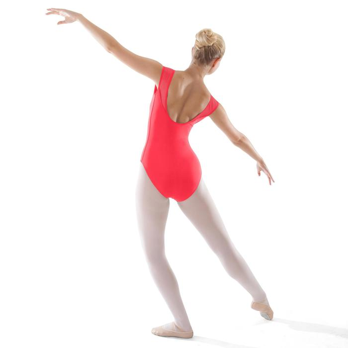 Balletpakje met korte mouwen voor dames koraalrood