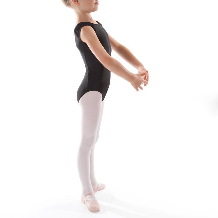 Maillot de danza clásica manga corta negro niña