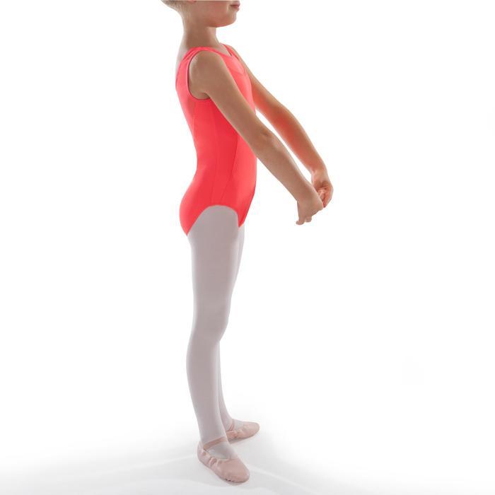 Maillot de danza clásica de dos tejidos niña coral