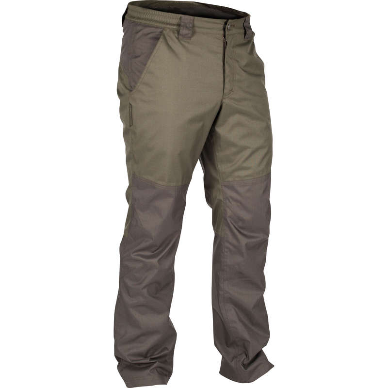 WATERPROOF CLOTHING Shooting and Hunting - Waterproof Reinforced hunting Trousers 100 - Green SOLOGNAC - Hunting and Shooting Clothing