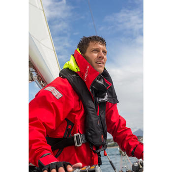 Vareuse de bateau homme Race Offshore rouge