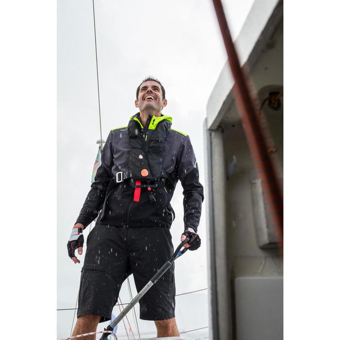 Pantalón Bermudas Marinero Náutica Barco Vela Tribord Race Hombre Negro