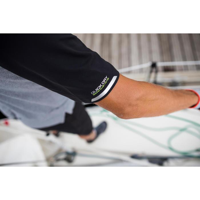 Polo met korte mouwen voor wedstrijdzeilen heren Race 500 gemêleerd grijs