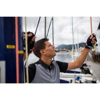 Men's short-sleeved regatta race polo shirt grey heather