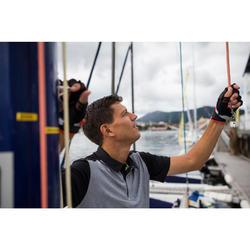 Polo manches courtes de régate bateau homme Race gris chiné