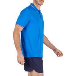 Poloshirt Dry 500 Tennispolo Herren blau/rot