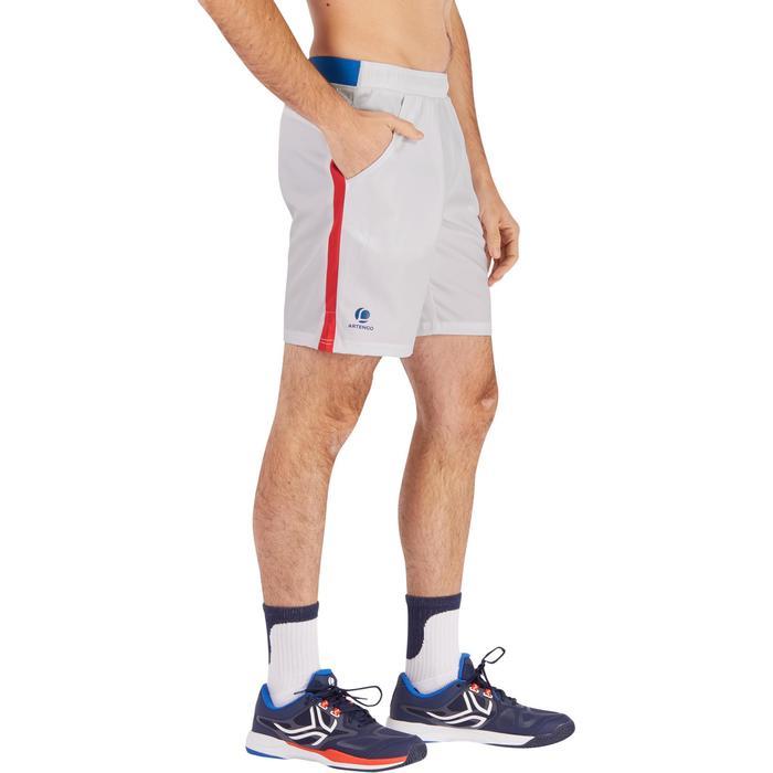 Tennis-Shorts Dry 500 Herren weiß / blau / rot