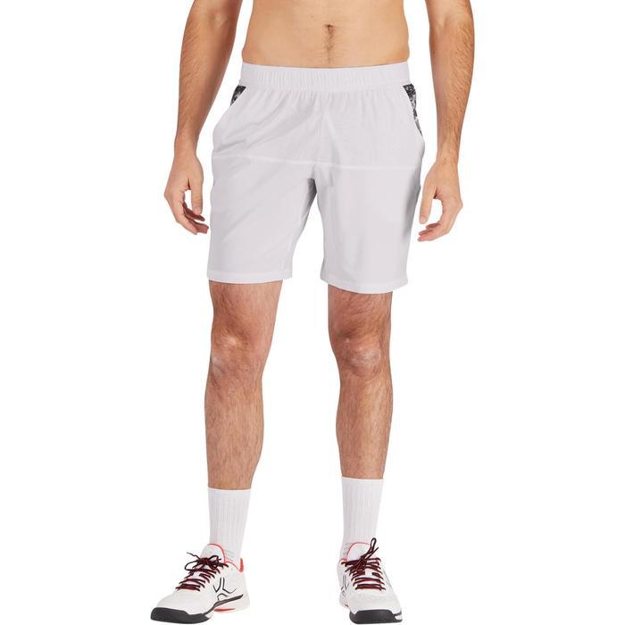 Tennisshort heren Dry 900 wit met opdruk
