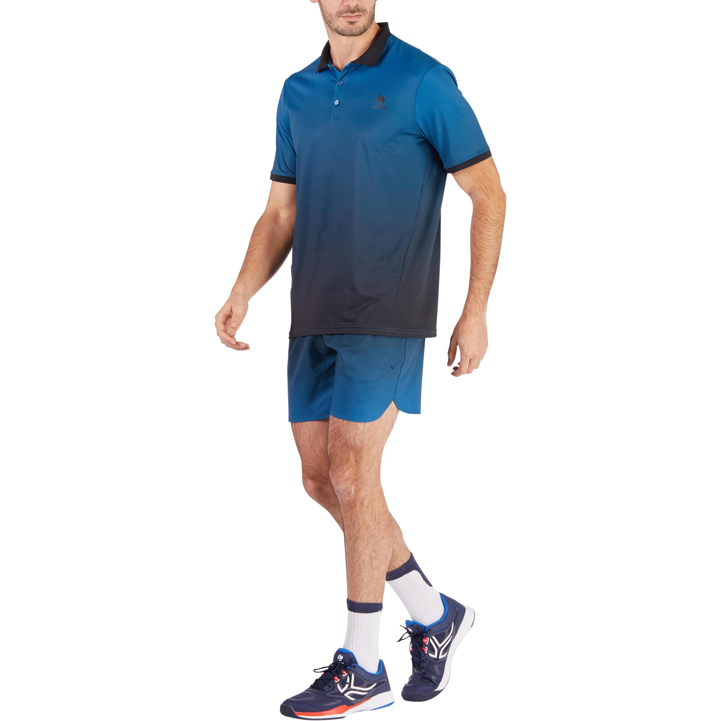 Polo T-shirt -Tennis -Dry 500 blue/black