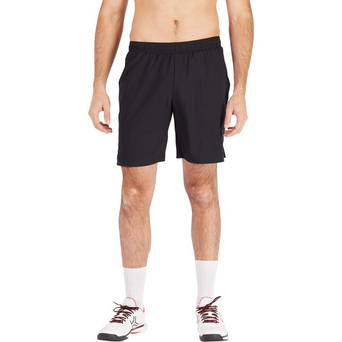 Tennisshort heren Dry 500 zwart