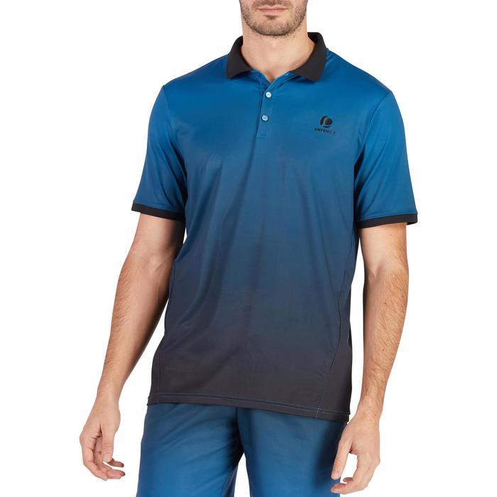Tennis-Poloshirt Dry 500 Herren blau / schwarz