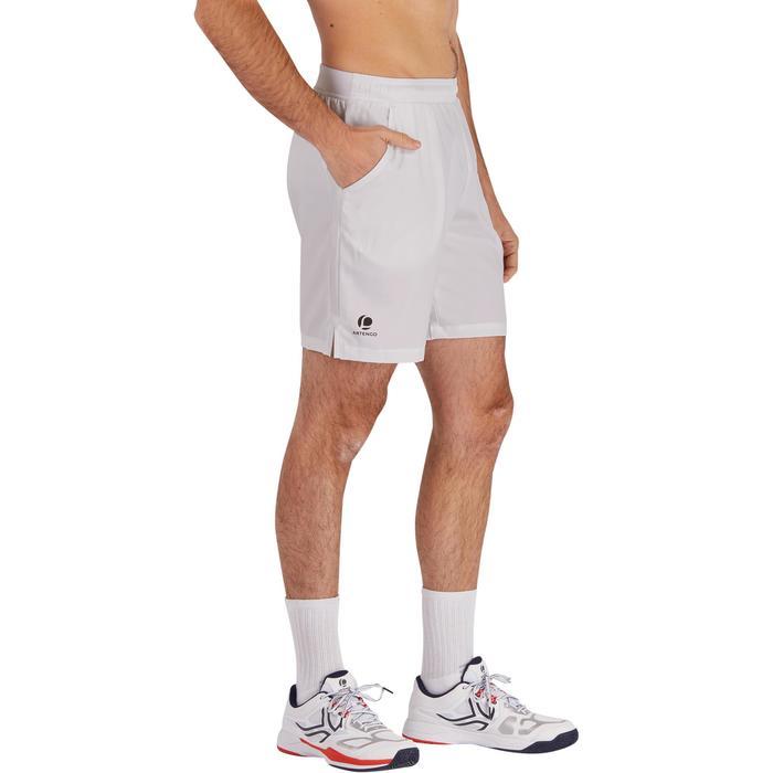 SHORT DE TENNIS DRY 500 HOMME BLANC