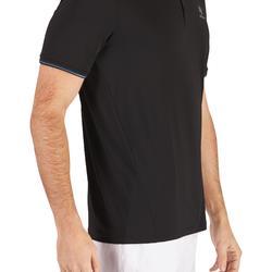 Tennispolo heren Dry 500 zwart