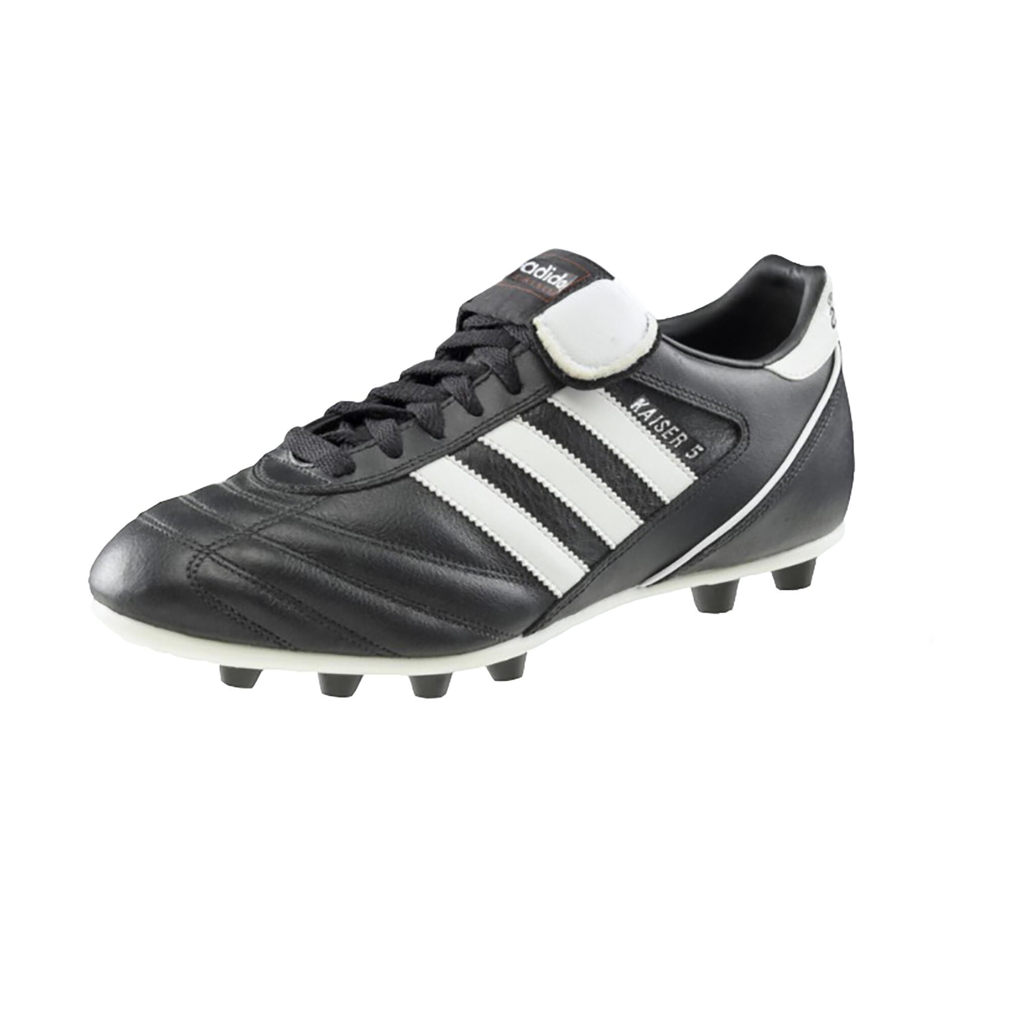Botas de fútbol adulto Kaiser Liga FG negro blanco Adidas  7166e2e2e8027