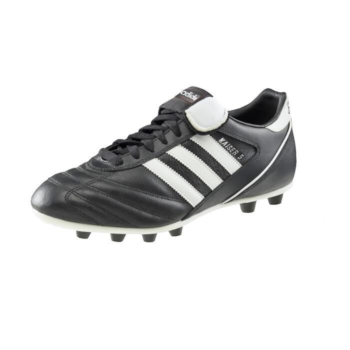 Chaussure de football adulte Kaiser Liga FG noire blanche - 1296164