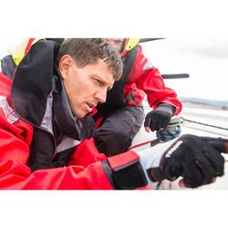 Chaqueta náutica vareuse hombre Race Offshore rojo
