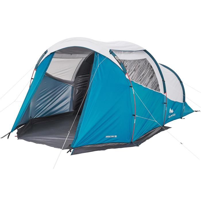Camping Tent with Poles Arpenaz 4.1 F&B 4 Persons 1 Bedroom