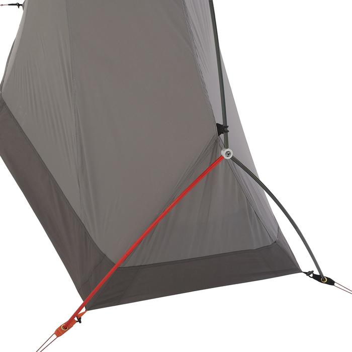 Trekkingzelt Trek 900 ultralight 1 Person grau