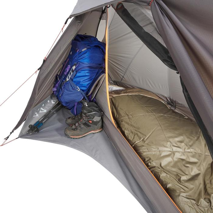 Tienda Campaña y Vivac de Montaña y Trekking Forclaz Trek900 Ultralight 1p Gris