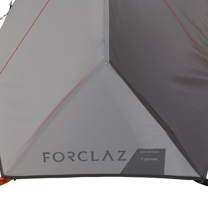 Tente de trek 900 ultralight 1 personne gris - 1296271