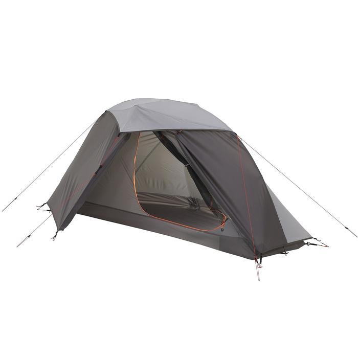 Tente de trek 900 ultralight 1 personne gris - 1296279