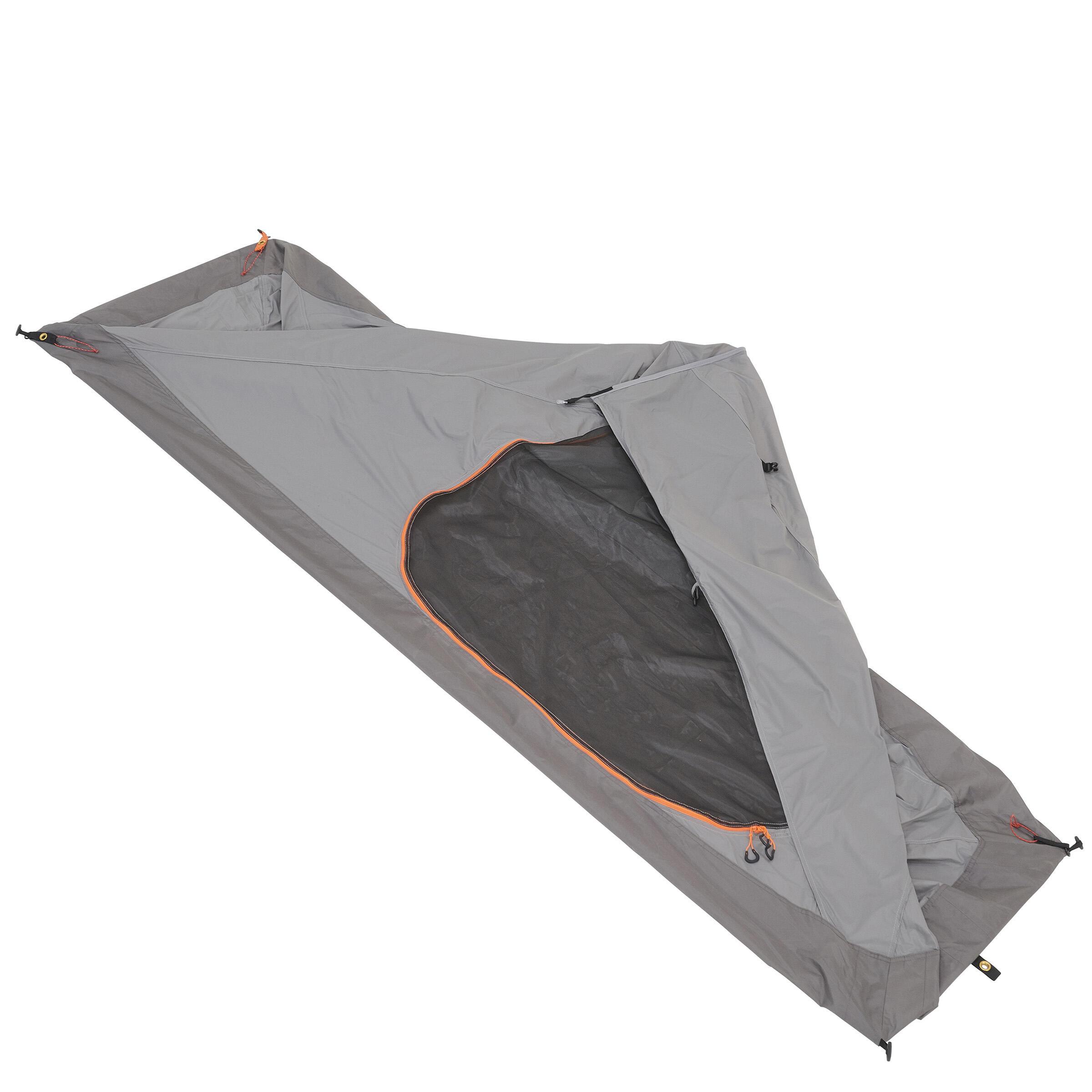 TREK900 trekking tent ultralight 1 person grey
