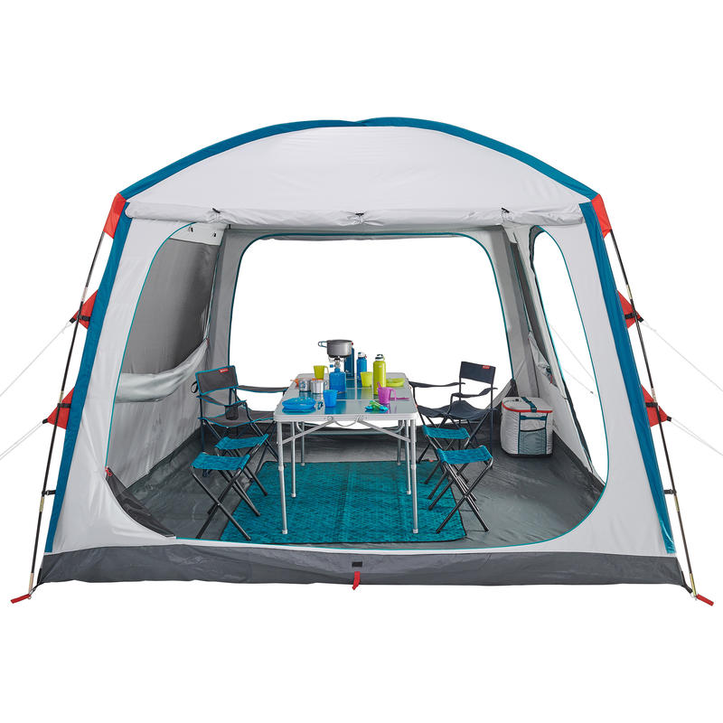 Camping living room with arch poles BASE ARPENAZ L FRESH _PIPE_ 8 People