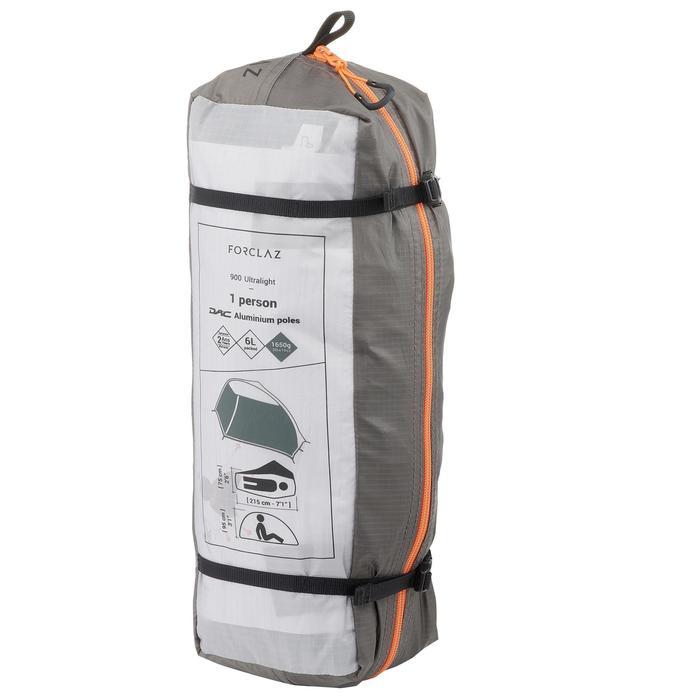 Tente de trek 900 ultralight 1 personne gris - 1296307