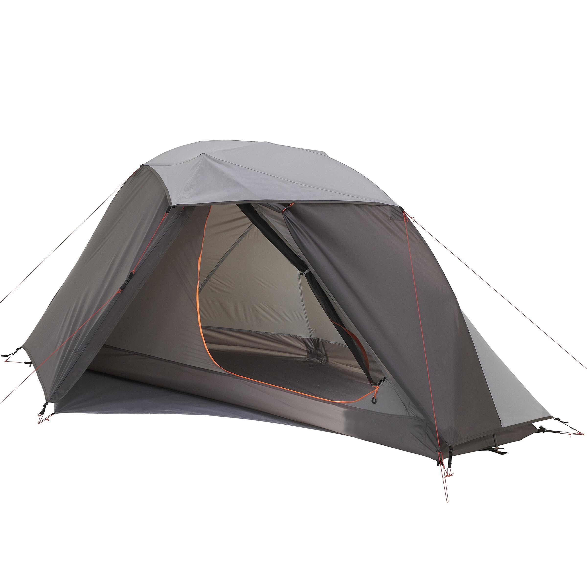Forclaz Eenpersoonstent voor trekking Ultralight 900 grijs