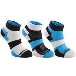 Halfhoge sportsokken voor kinderen Artengo RS 160 blauw/zwart 3 paar