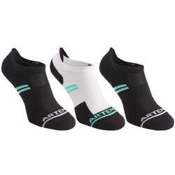 RS500 Adult Low Sports Socks Tri-Pack - Black/Green