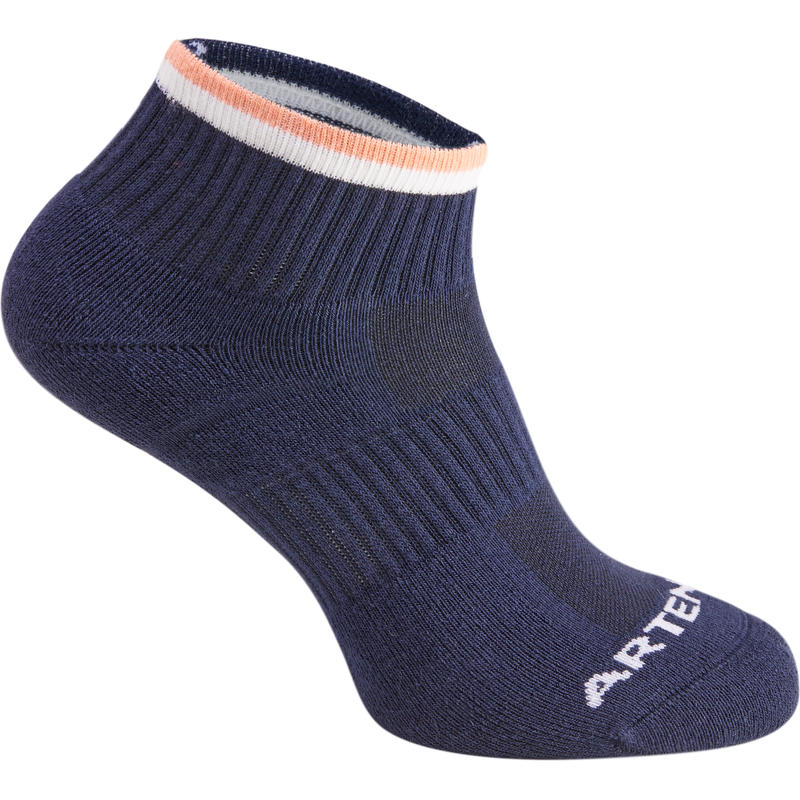 RS 500 Mid Sports Socks Tri-Pack - Navy/Coral