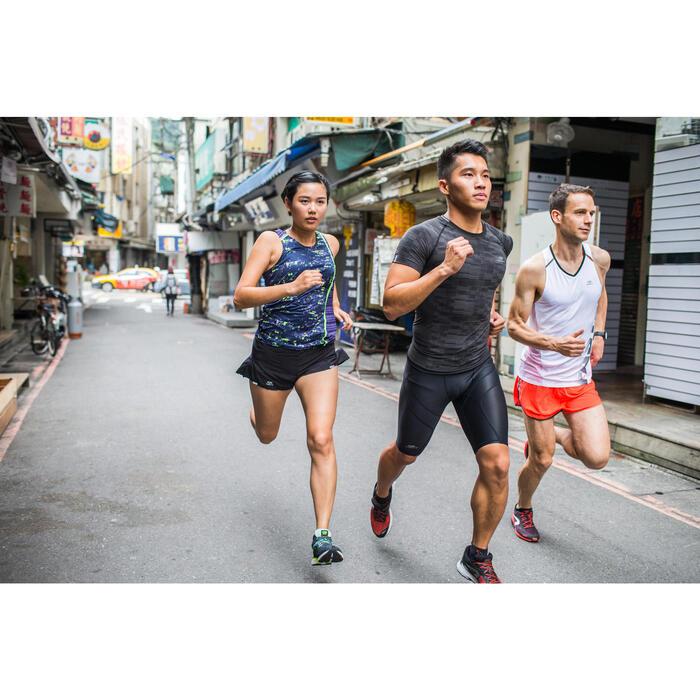 SHORT DE RUNNING HOMME KIPRUN SPLIT ROUGE