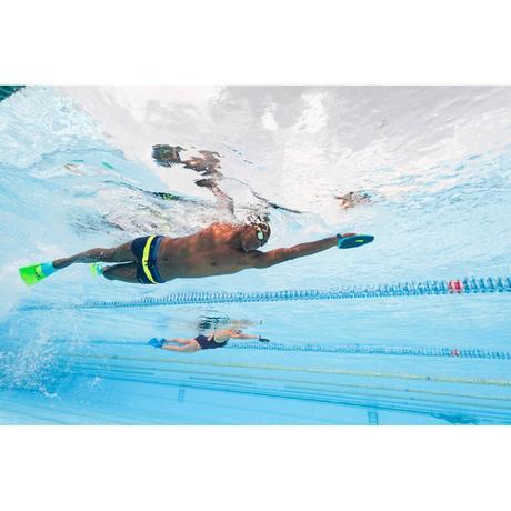 Palmes natation courtes silifins ii bleu vert nabaiji for Palmes courtes piscine