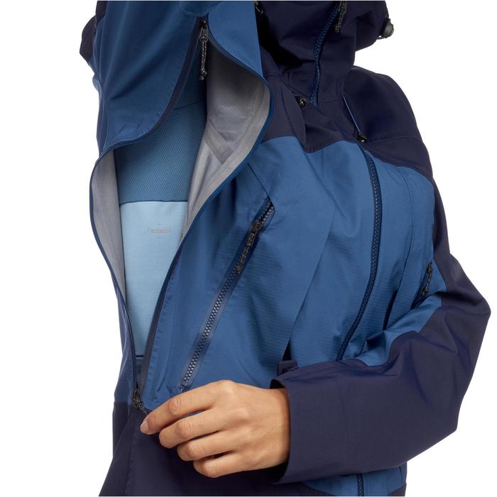 Waterdichte damesjas voor bergtrekking Trek 500 blauw