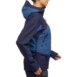 Chaqueta impermeable montaña y trekking Forclaz TREK 500 mujer azul