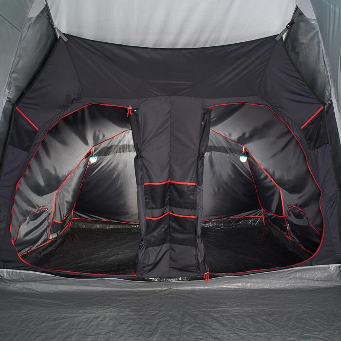 Kampeertent 8 personen Air Seconds 8.4 F&B opblaasbaar - 4 slaapcompartimenten