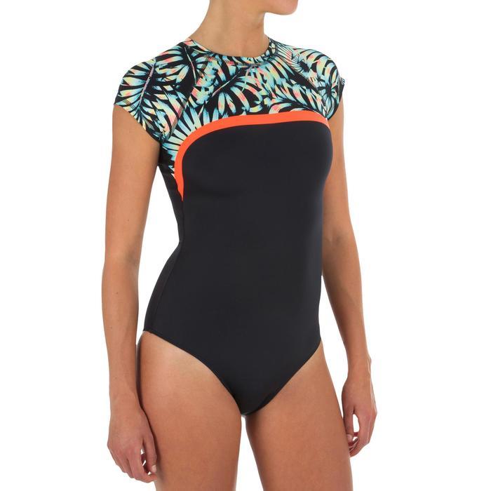 Damesbadpak voor surfen Master Palm korte mouwen - 1296604