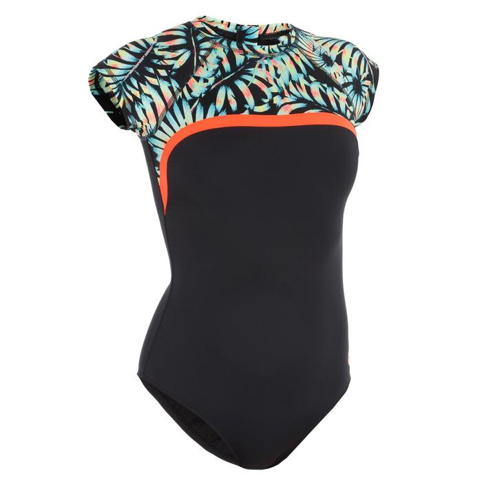 Damesbadpak voor surfen Master Palm korte mouwen - 1296606
