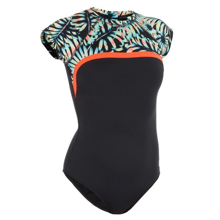 Damesbadpak voor surfen Master Palm korte mouwen