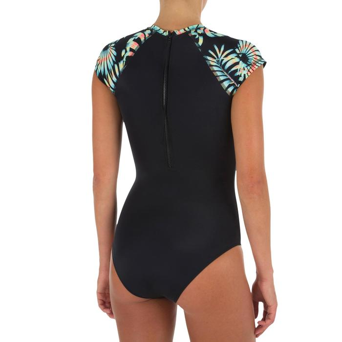 Damesbadpak voor surfen Master Palm korte mouwen - 1296607